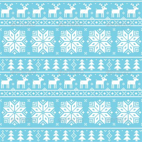 nordic pattern illustrator christmas nordic seamless pattern deer graphicriver