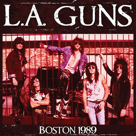 L A Guns l a guns boston 1989 cd cleopatra records store