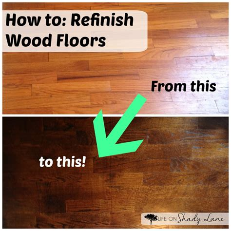 How To Refinish Wood Flooring by 2016 Home Goals On Shady