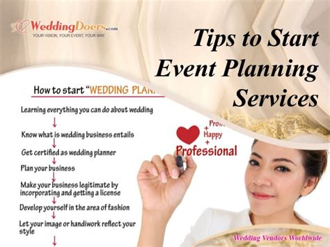 event planner services tips to start event planning services