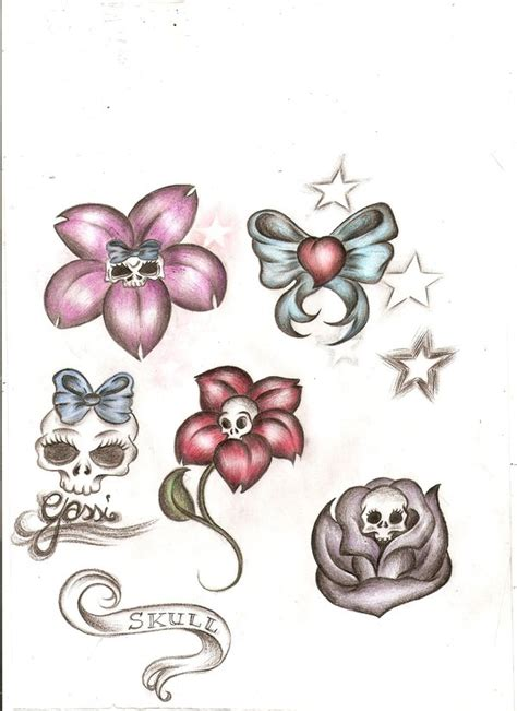 tattoo flower flash tattoo images by laurie mcneill tattoos show