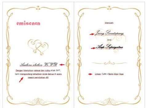 cara membuat undangan yang simple cara membuat contoh undangan pernikahan sederhana dengan