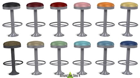 american diner bar stools around the sims 4 custom content download objects