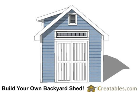 Shed Dormer Plans by 10x12 Shed Plans With Dormer Icreatables