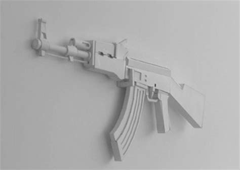 How To Make A Paper Gun Ak 47 - random stuff paper guns