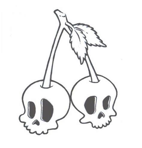 skull cherry tattoo  zombiegurl  deviantart cherry