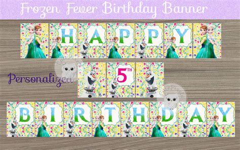 printable frozen fever banner frozen fever birthday banner frozen party banner frozen