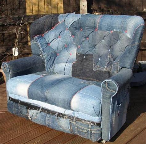 jean couch denim sofa art mixed media fiber art pinterest