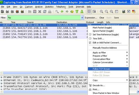 tutorial aplikasi wireshark catatan kecil mengintip password login ftp di mikrotik