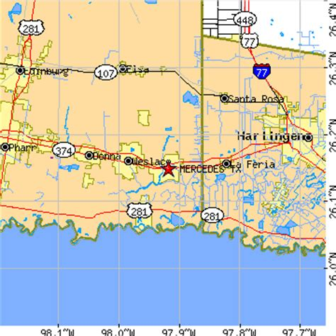 map of mercedes texas mercedes texas tx population data races housing economy