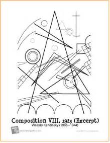 composition viii kandinsky free printable coloring page