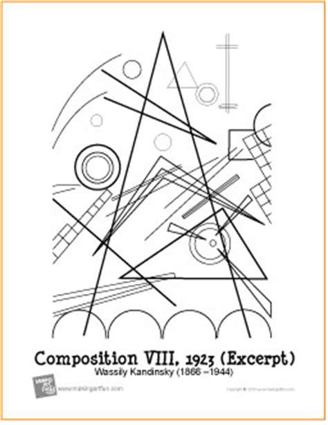 composition viii kandinsky free printable coloring page