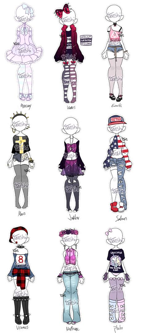 pastel  punk planets outfit adopts closed