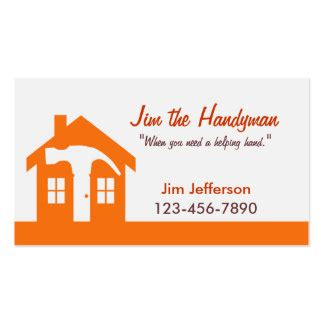 home maintenance business card template home maintenance business cards templates zazzle