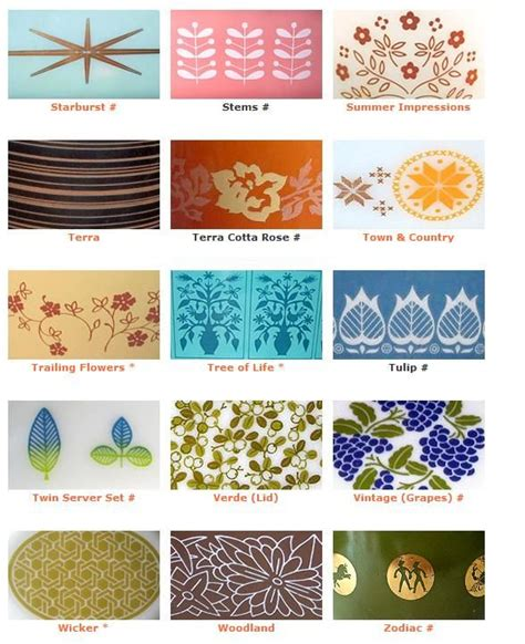 pattern with name pyrex pattern names pyrex porn pinterest