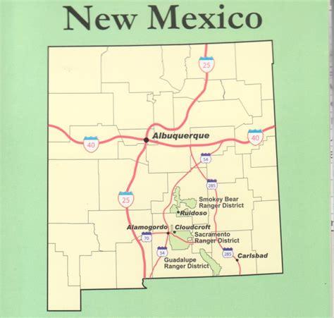lincoln new mexico map lincoln national forest smokey sacramento ranger