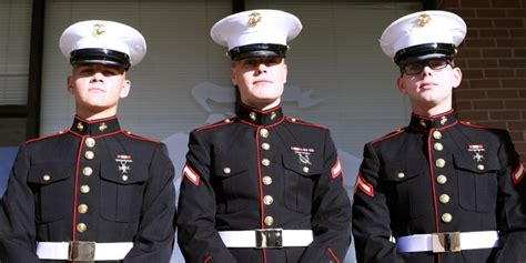 Dress Blues these marines in their dress blues chased 3 suspected