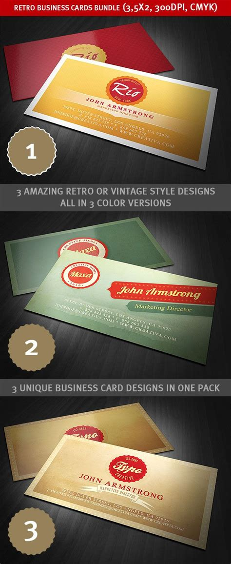 amazing business card templates 28 images retro