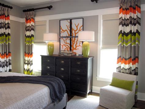 orange and green bedroom photo page hgtv