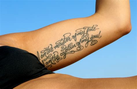 invictus tattoo underarm invictus tattoos fonts