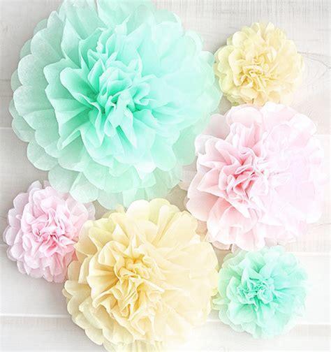 flores en papel seda paso a paso como hacer flores o pompones de tul grandes y chicos muy