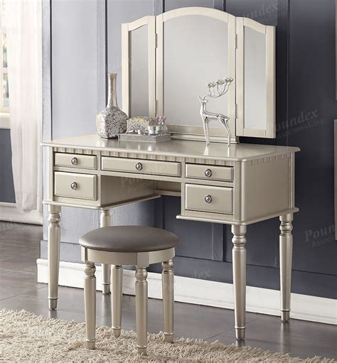 Makeup Vanity Table Christine Silver Makeup Dressing Table Set