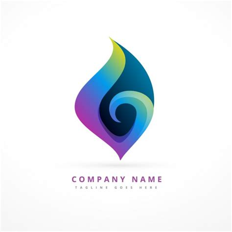 abstract logo template design vector free download