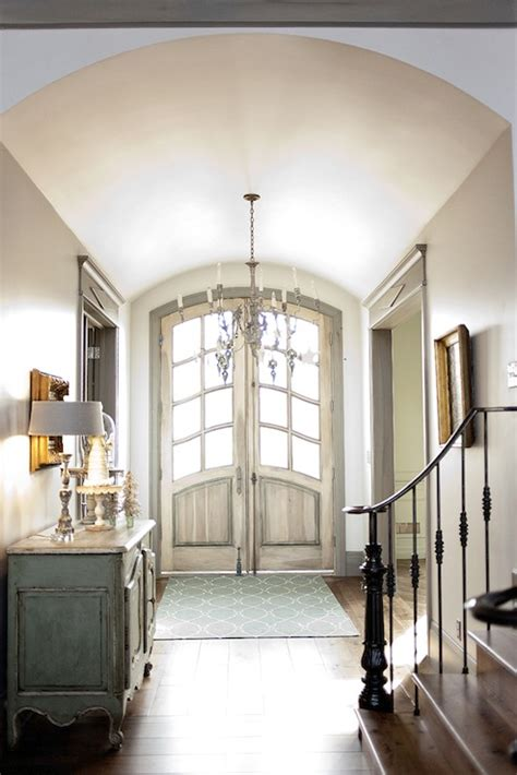 Entryway Ceiling Ideas Barrel Ceiling Entrance Foyer Decor De Provence