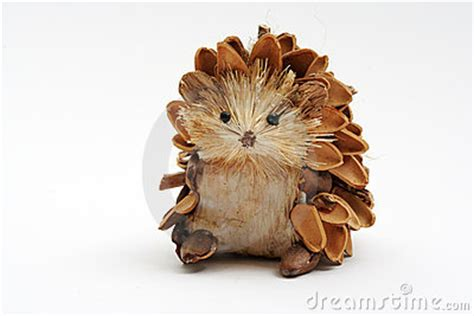 pine cone hedgehog stock photo image