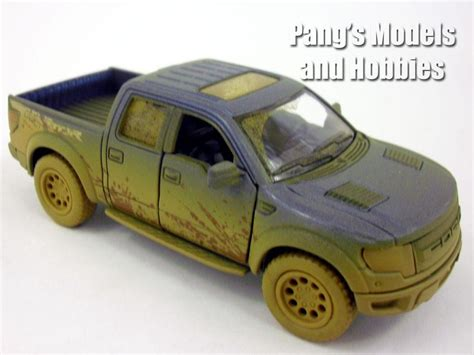 Ford F150 Raptor Hitam Diecast Kinsmart 132 ford f 150 muddy svt raptor supercrew 1 46 scale diecast metal m pang s models and hobbies