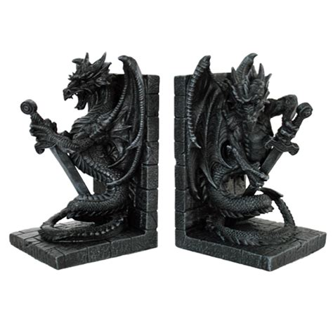 dragon bookends sword dragon bookends miscellaneous dragon gifts