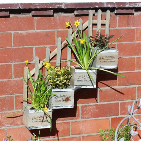 wall mounted planter wall mounted wooden stepped 4 plant pot planter melody