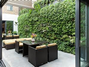 Outdoor Patio Walls by Think Green 20 Vertical Garden Ideas