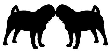 pug silhouette clip pug silhouette vector clipart best