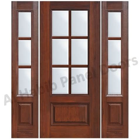 French Livingroom by Glass Wooden Door With Frame Hpd480 Glass Panel Doors