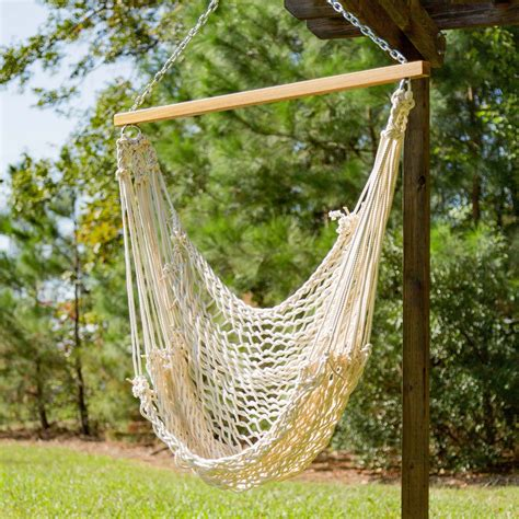 swinging hammocks pawleys single cotton rope hammock swing