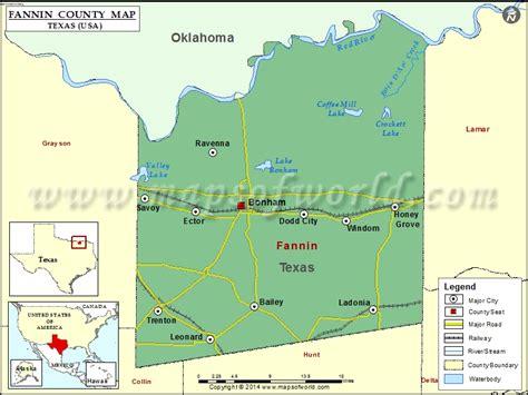 fannin county map texas