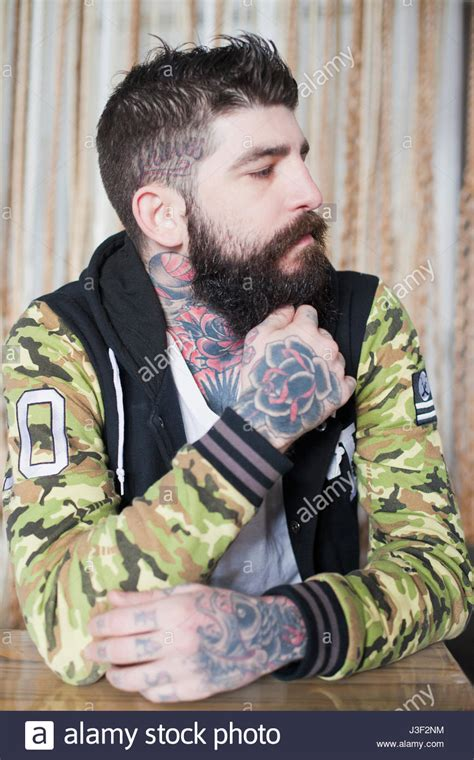 heavily tattooed heavily tattooed stock photos heavily tattooed