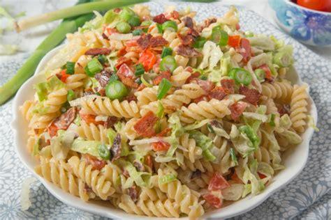 pasta recipe blt pasta salad recipe genius kitchen