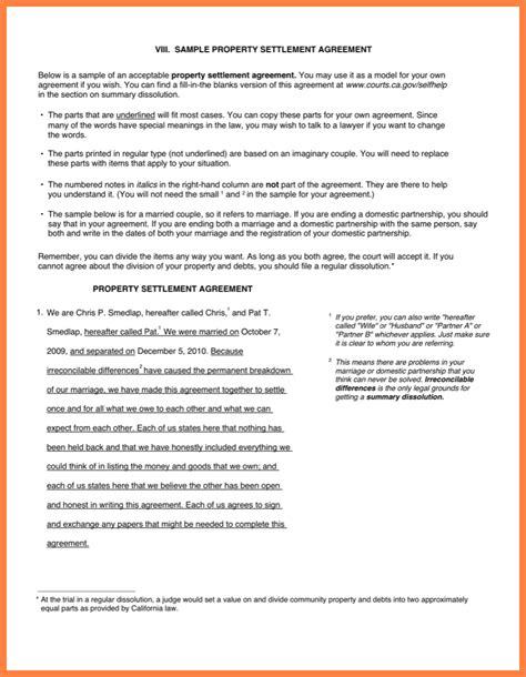 property settlement agreement template property settlement agreement marital settlements
