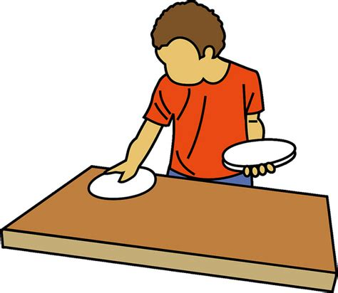 set table preschool table setter clipart