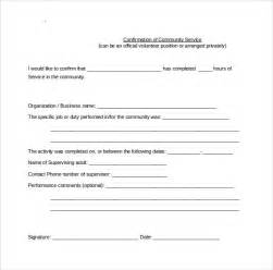 community service hours certificate template sle service hour form 13 free documents in