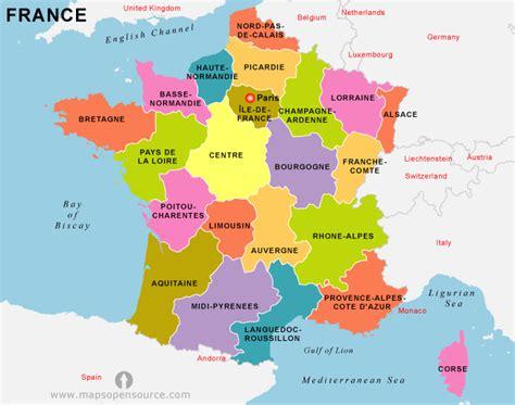 Map Of France Regions by France Regions Map Recana Masana