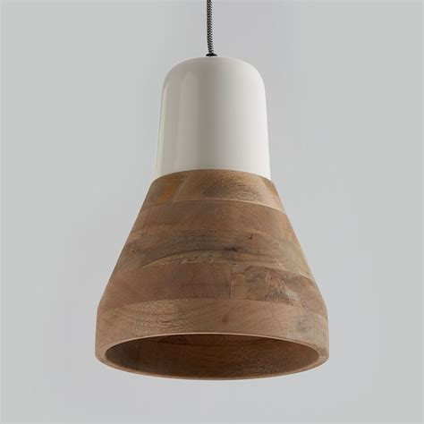 wood lantern pendant light reykjav k white and wood pendant light