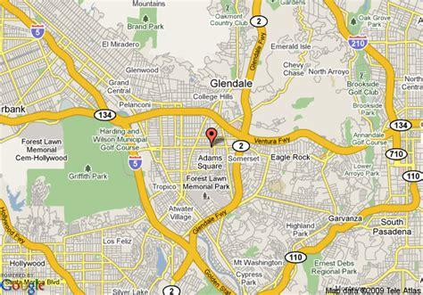 california map glendale map of chariot inn glendale