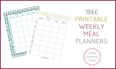 free editable printable meal planner free printable weekly meal plan template what mommy does