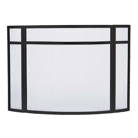 curved paneled folding fireplace screens minuteman