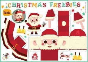 santa claus and reindeer free printable diy christmas