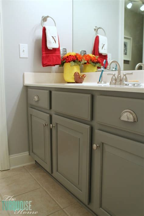 how do you paint bathroom cabinets diy driftwood finish the turquoise home