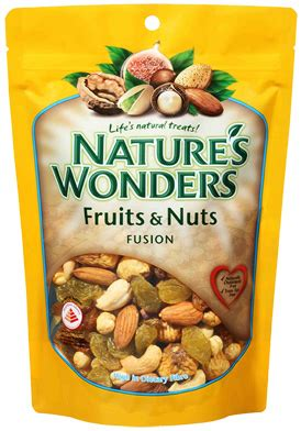 Natures Wonders Fruit Nuts 300g sun